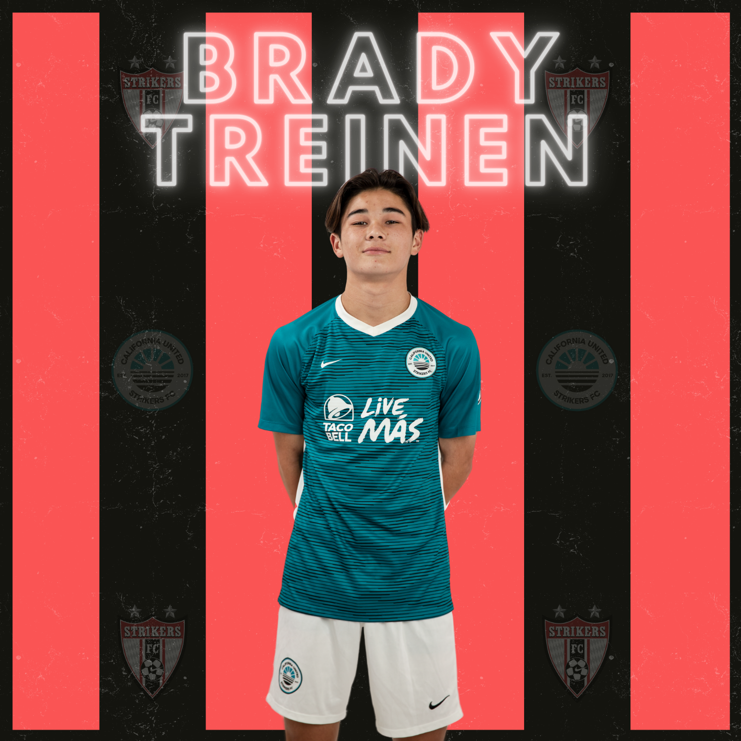 B2004 STRIKERS PLAYER BRADY TREINEN SIGNS PRO CONTRACT WITH CAL UNITED STRIKERS FC